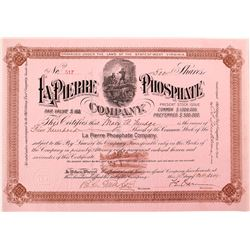 La Pierre Phosphate Company Stock Certificate