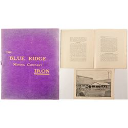 Prospectus The Blue Ridge Mining Company (Georgia Iron)