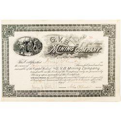 G.V. B Mining Company Stock Certificate