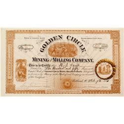 Golden Circle Mining and Milling Company Stock Certificate (Seward's Island, Maine)