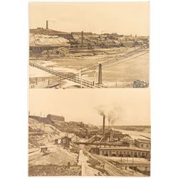 Two Large Plate Photos of Anaconda Copper Smelter