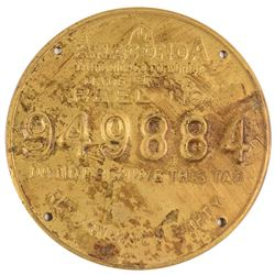 Anaconda Wire & Cable Co. Metal Mining Tag