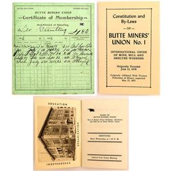 2 Butte, MT Miners Union Documents