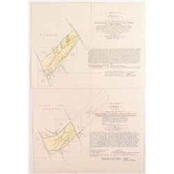 1905 Deer Lodge Placer Mining Maps/Patents