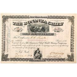 Bonanza Chief Gold Mining Company Stock Certificate
