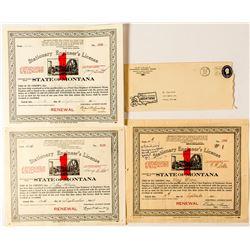 3 Rare Montana Hoist Operator Licenses