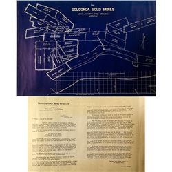 Mining Promo Map/Flyer including Jay Gould Mine