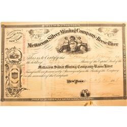 Mettacom Silver Mining Company of Reese River Stock Certificate, 1866