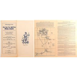 Red Fox Bullfrog Mining Co. Prospectus c. 1905- Lg. District Claim Map