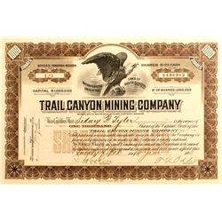 Trail Canyon Mining Co. Stock, Death Valley- Tasker Oddie Sig. 1907