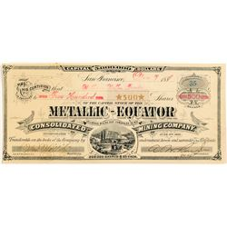 Metallic-Equator Consolidated Mining Company Stock Certificate