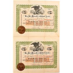 Two Lone Jack Mining Co. of Goldfield, Nevada Stock Certificates