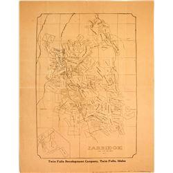 Large Mining Claim Map of Jarbidge, Nevada