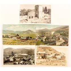 Five Virginia City Mining Scene Postcards