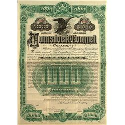 Comstock Tunnel Company $1,000 Bond