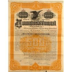 Comstock Tunnel Company $500 Bond