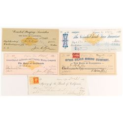 Virginia City, NV Check Collection 3 (incl. Fair & Mackay Signatures)