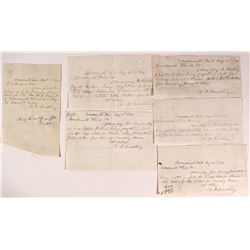 Woodworth Handwritten 'Pay to Order of' Notes