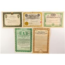 Nevada Mining Stock Certificates & Bonds