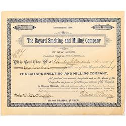 Bayard Smelting and Milling Company Stock Certificate