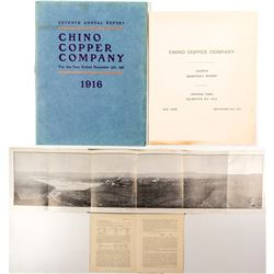 Chino Copper Company Reports and Photo