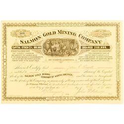 Salmon Mining Company Stock Certificate (Black Hills, South Dakota)