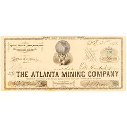 Atlanta Mining Company Stock Certificate