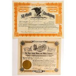 Two Wyoming Mining Stock Certificates