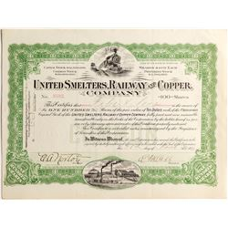 United Smelters, Railway and Copper Company Certificate