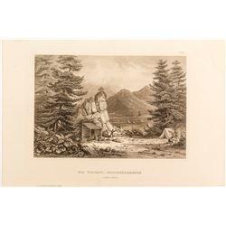 19th Century Mining Steel Engraving