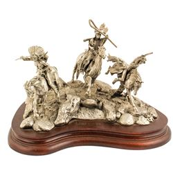 War Party, Pewter Sculpture