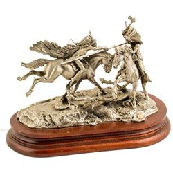 When War Chiefs Meet, Don Polland (Pewter Sculpture)