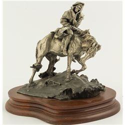 Along the Cherokee Trace by Boyett (Pewter Sculpture)