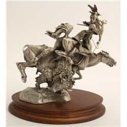 Plight of the Huntsman by Michael Boyett (Pewter Sculpture)