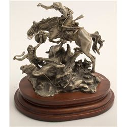 When Warriors Meet by Michael Boyett (Pewter Sculpture)