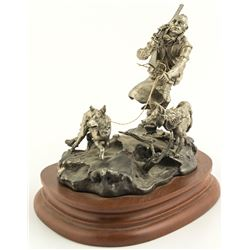 Winter Hunt by Michael Boyett (Pewter Sculpture)
