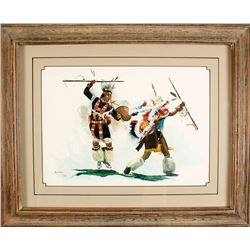 War Dancer by Kay Homan (Watercolor Painting)