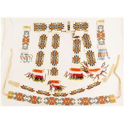 Paiute Ceremonial Beaded Belt, Wristbands and Headbands