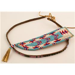 Beaded Knife Sheath w/ Belt