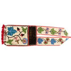 Ojibwe Beaded Bandolier Bag