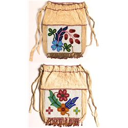 Ojibwe Women's Beaded Hide Bag