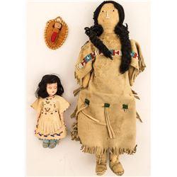 Three Native American Dolls
