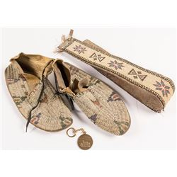 Beaded Moccasins and Belt