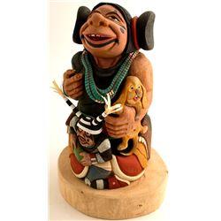 Koyala (Clown) Family Kachina by Ted Pavatea