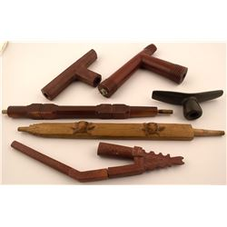 Catlinite Pipestone Pipes & Pipe Stem