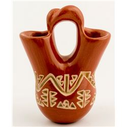 Incised Redware Wedding Vase, Doris Tenorio