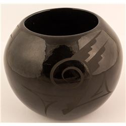 Native American Style Blackware Pot