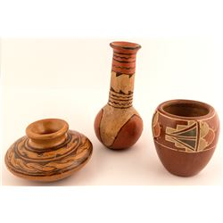 Three Native American Pots