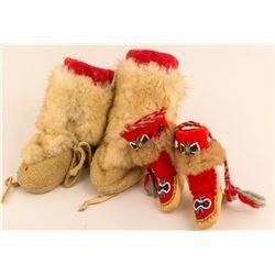 2 Pairs of Eskimo Baby Mukluks