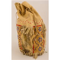 Alaskan Fur and Beaded Bag